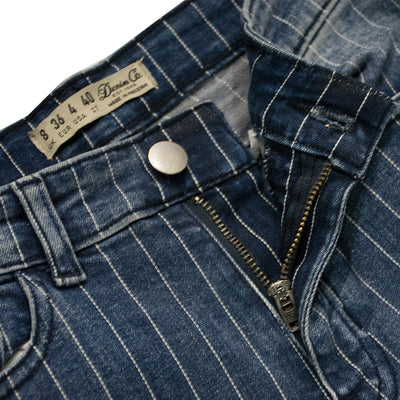 Ladies Vertical Lined Denim
