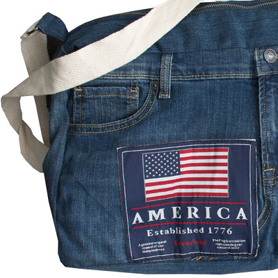 Funkys Ripped Denim Bag - Deeds.pk