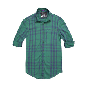 Funkys Green Check Casual Shirt - Deeds.pk