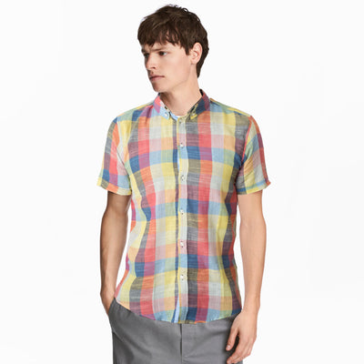 Old Navy Rainbow Check Half Sleeves Shirt - Deeds.pk