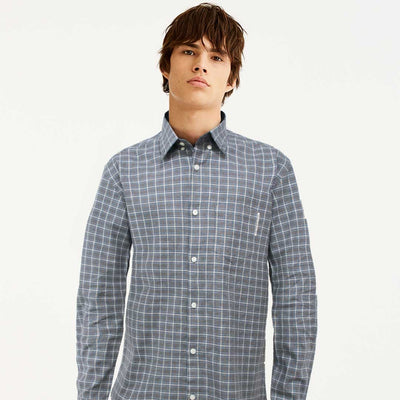 HNDM Flannel Square Check Long Sleeves Casual Shirt