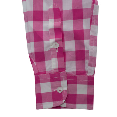 Hollister Pink Checkered Casual Shirt - Deeds.pk
