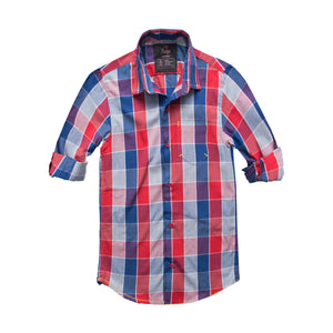 Funkys Boy's Red and Blue Checkered Casual Shirt - Deeds.pk