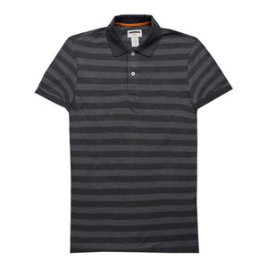Dockers Pebble Grey Stripes Polo - Deeds.pk