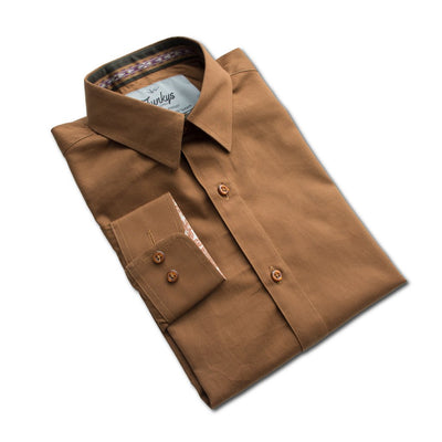 Funkys  Mocha Full Sleeves B-Quality Casual Shirt - Deeds.pk
