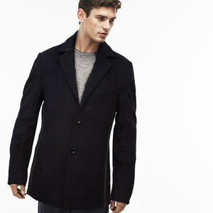 Prime Black Wool Fur Collar Winter Coat