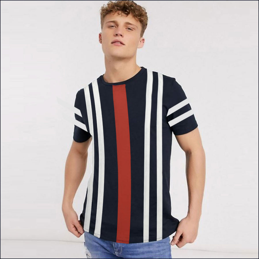 FUNKY'S AWNING STRIPES CONTRAST T-SHIRT