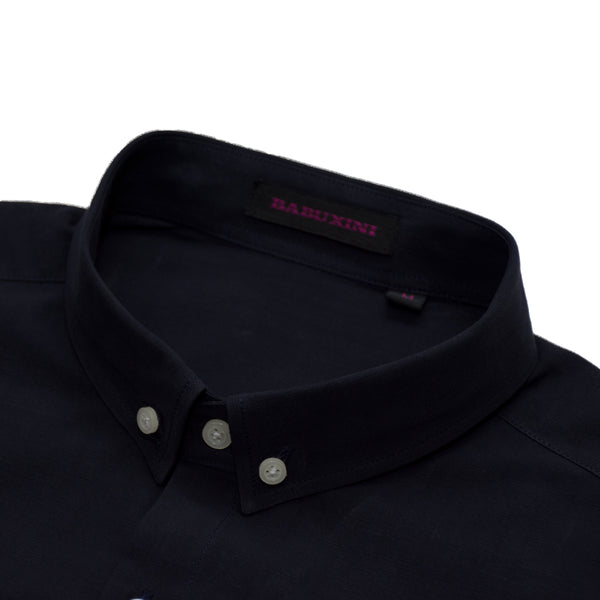 Babuxini Plain Dark Navy Casual Shirt - Deeds.pk