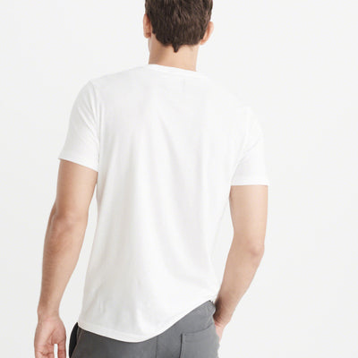 Abercrombie & Fitch White Crew Neck T-Shirt - Deeds.pk