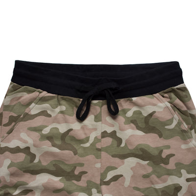 SCL Crop Fit Camouflage Jogger Pants