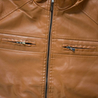 Self Textured Vogue Leather Jackets