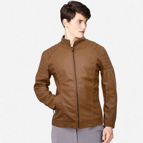 Massimo Dutti Swank Leather Biker Jacket