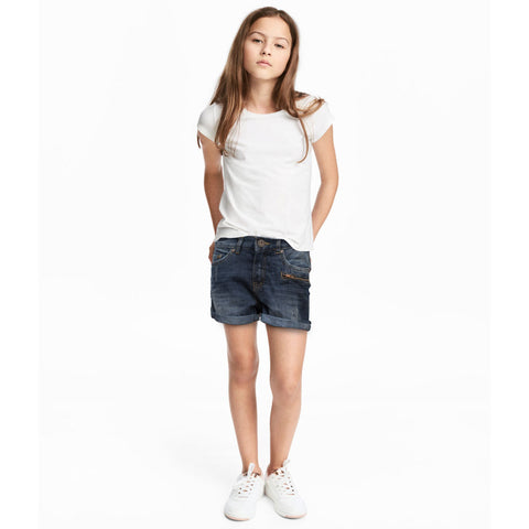 Girl's Faded Denim Shorts 3 to 18 Year - Deeds.pk