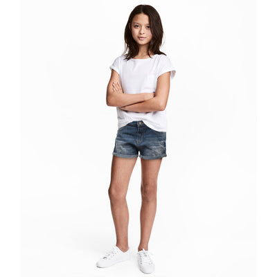 Girls Creeks Denim B-Quality Shorts - Deeds.pk