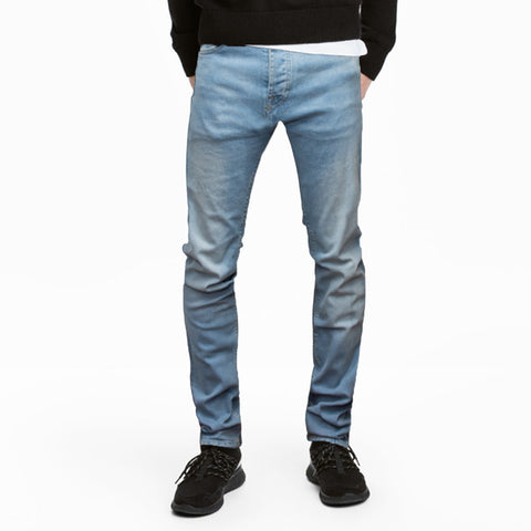 Pull & Bear Faded Blue Slim Fit Denim