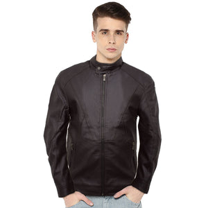 Diosel Dark Brown Leather Biker Jacket - Deeds.pk