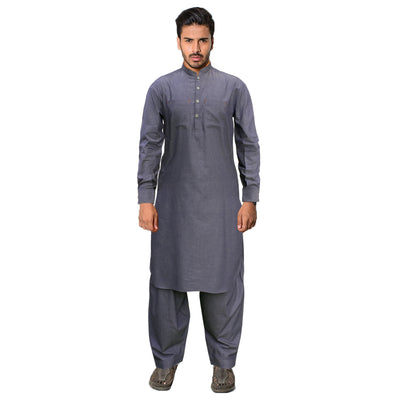 Funkys Faded Blue Stitched Kamiz Shalwar