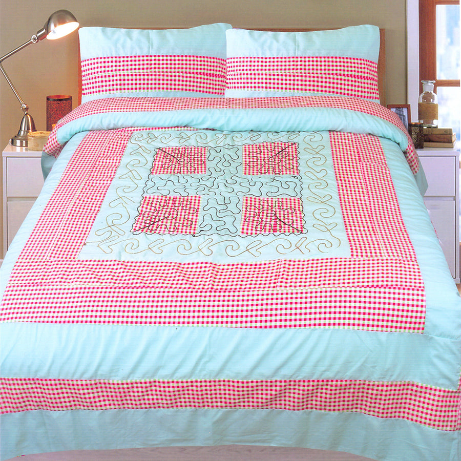 Funkys Patch Work Center Embroidered Bed Sheet Set