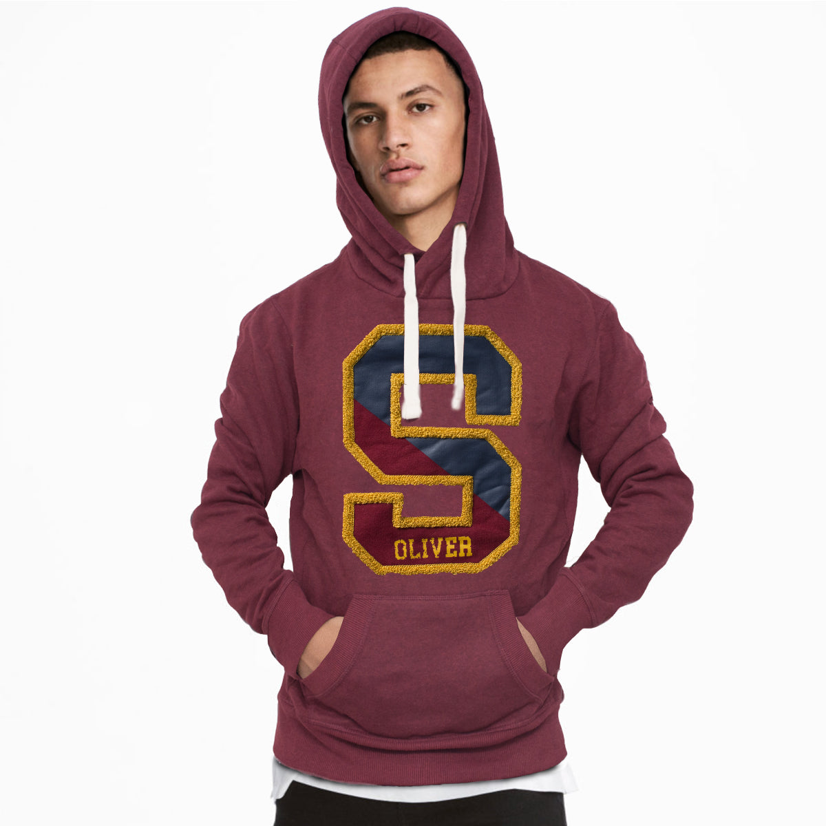 outlet new release promo code s.Oliver Maroon Fashion Hoodie