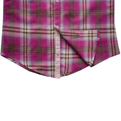 Funkys Pink Checkered Casual Shirt