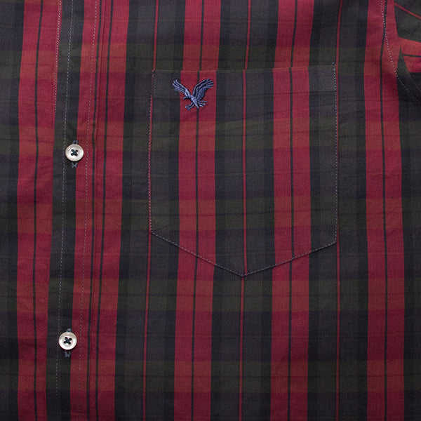 American Eagle Red Checkered B-Quality Casual Shirt - Deeds.pk