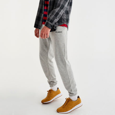 Pull & Bear Light Grey Jogger Pant