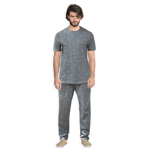 Funky's Heather Grey Men's Night Suit Plus Track Suit