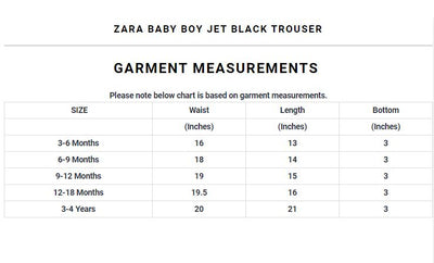 ZR Baby Boy Jet Black Trouser ( 3 MONTHS TO 4 YEARS )