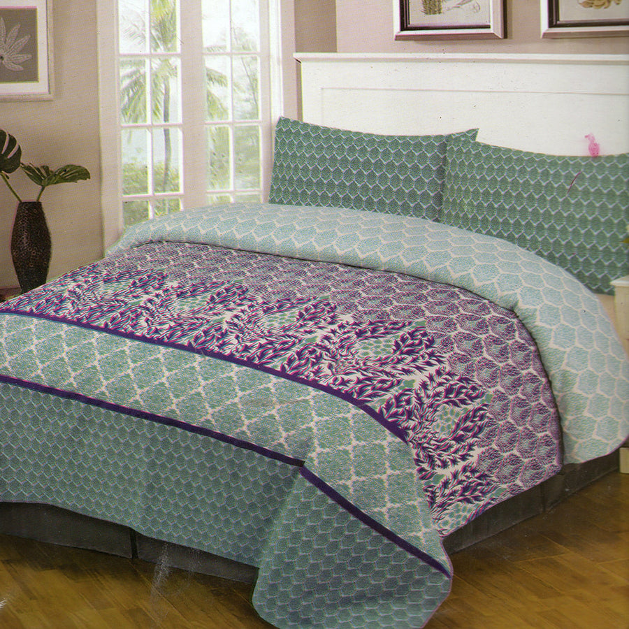 Cotton Concept Aqua Double Bed Sheet Set - Deeds.pk
