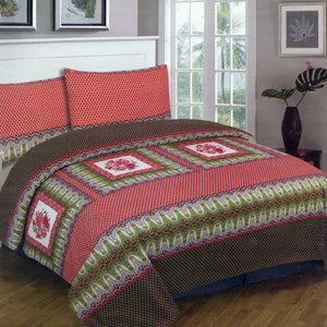 Cotton Concept Red Honeycomb Double Bed Sheet Set - Deeds.pk