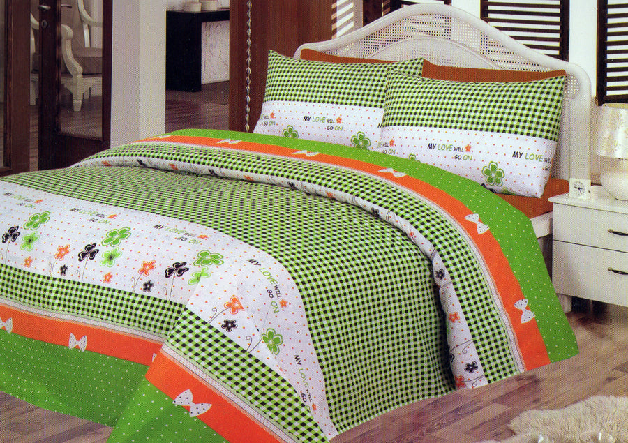 Daffodils My Love Will Go On Double Bed Sheet Set - Deeds.pk