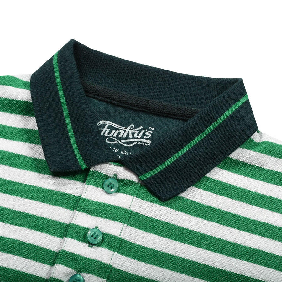 Funky's Defining Designer Green Stream Polo