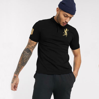 Super comfort front logo black  daily polo