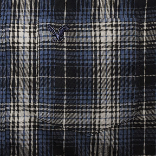 American Eagle Blue Micro Checkered B-Quality Casual Shirt - Deeds.pk