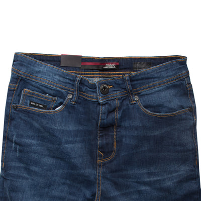 Midnight Blue Marcus Slim Straight Denim