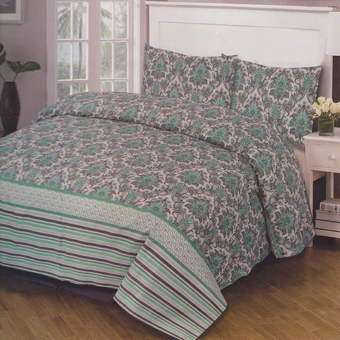 Cotton Concept Green Double Bed Sheet Set