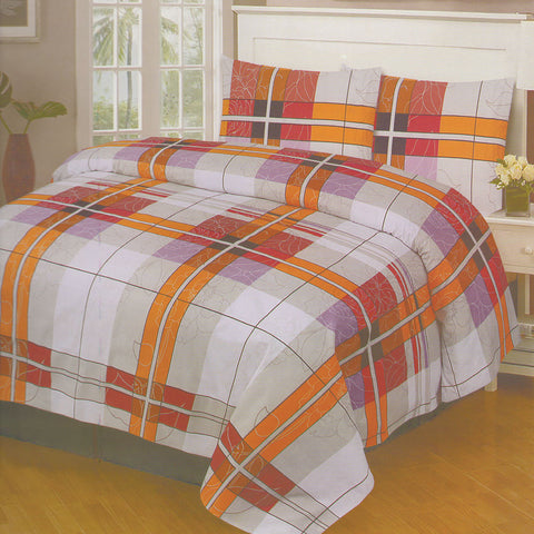 Cotton Concept Orange Double Bed Sheet Set