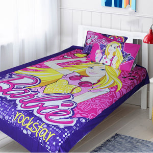 Pink Barbie Single Bed Sheet Set