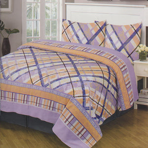 Cotton Concept Light Purple Double Bed Sheet Set