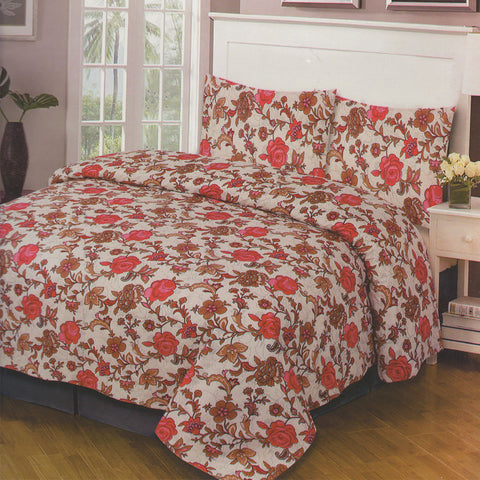 Cotton Concept Rose Red Double Bed Sheet Set