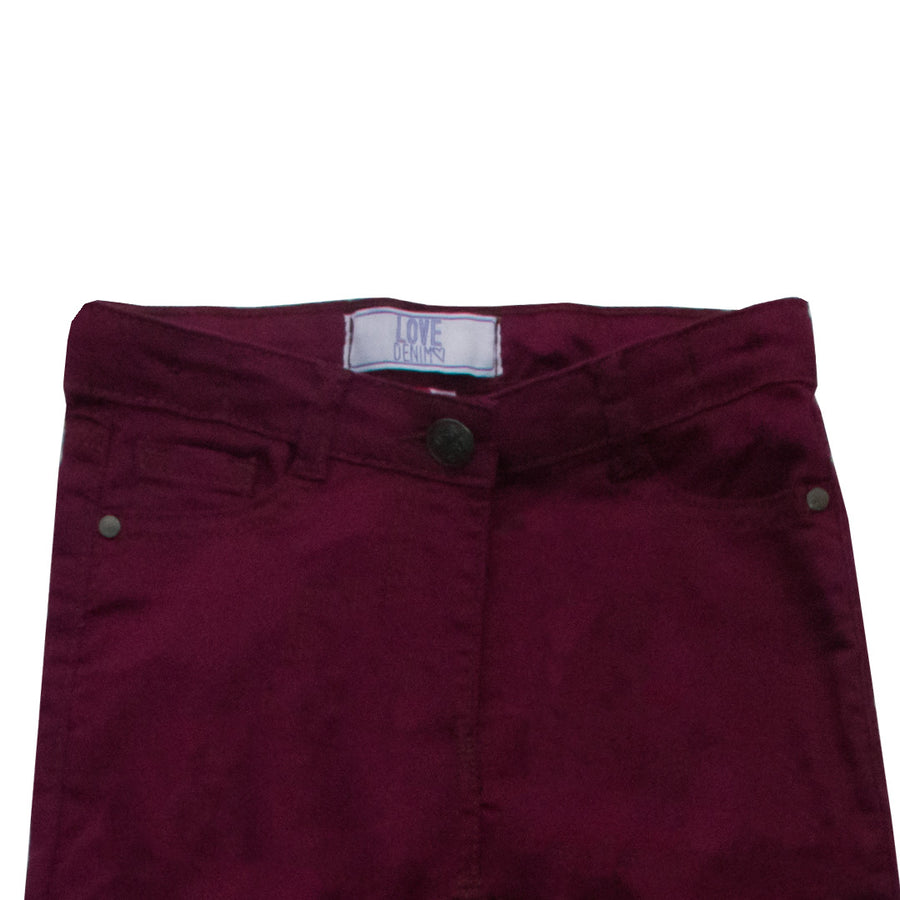 Love Denim Dark Maroon Girl's Denim ( 1 YEARS TO 7 YEARS )
