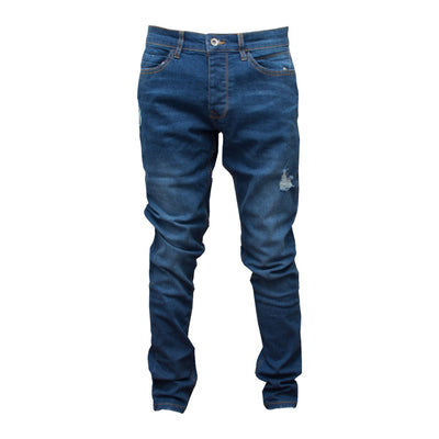 Mango Ripped Slim Fit Prussian Blue Denim - Deeds.pk