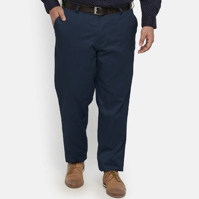 Authentic Elastic Waist Big & Tall Cotton Pant - Deeds.pk