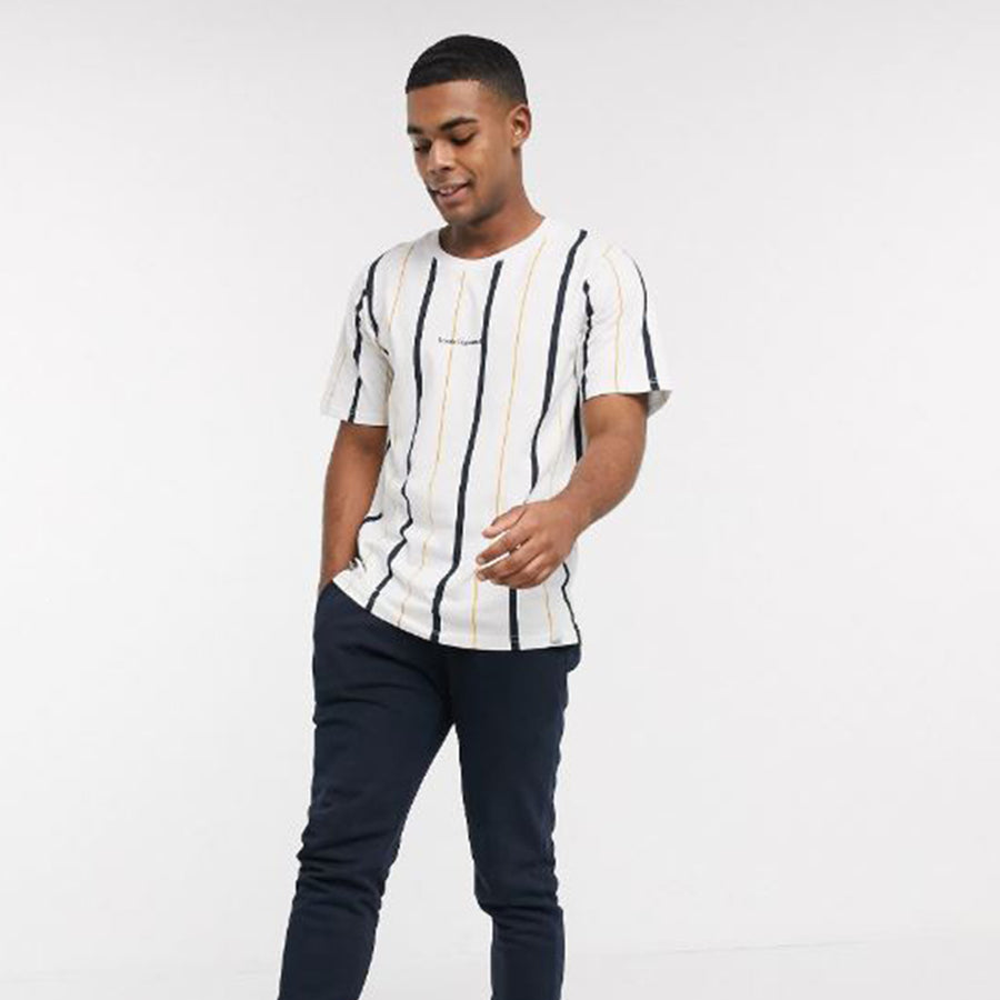 Funky's Iconic Personality Stripes Crew Neck Tee