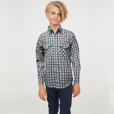 Funkys Boy's Multi Color Check Casual Shirt B-Quality