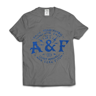 Kids Abercrombie Iron Grey Printed T-Shirt - Deeds.pk