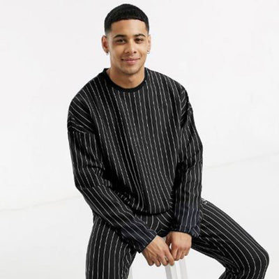 Funkys Printed Stripe Men's Full Sleeves T-SHIRT (with minor fault)