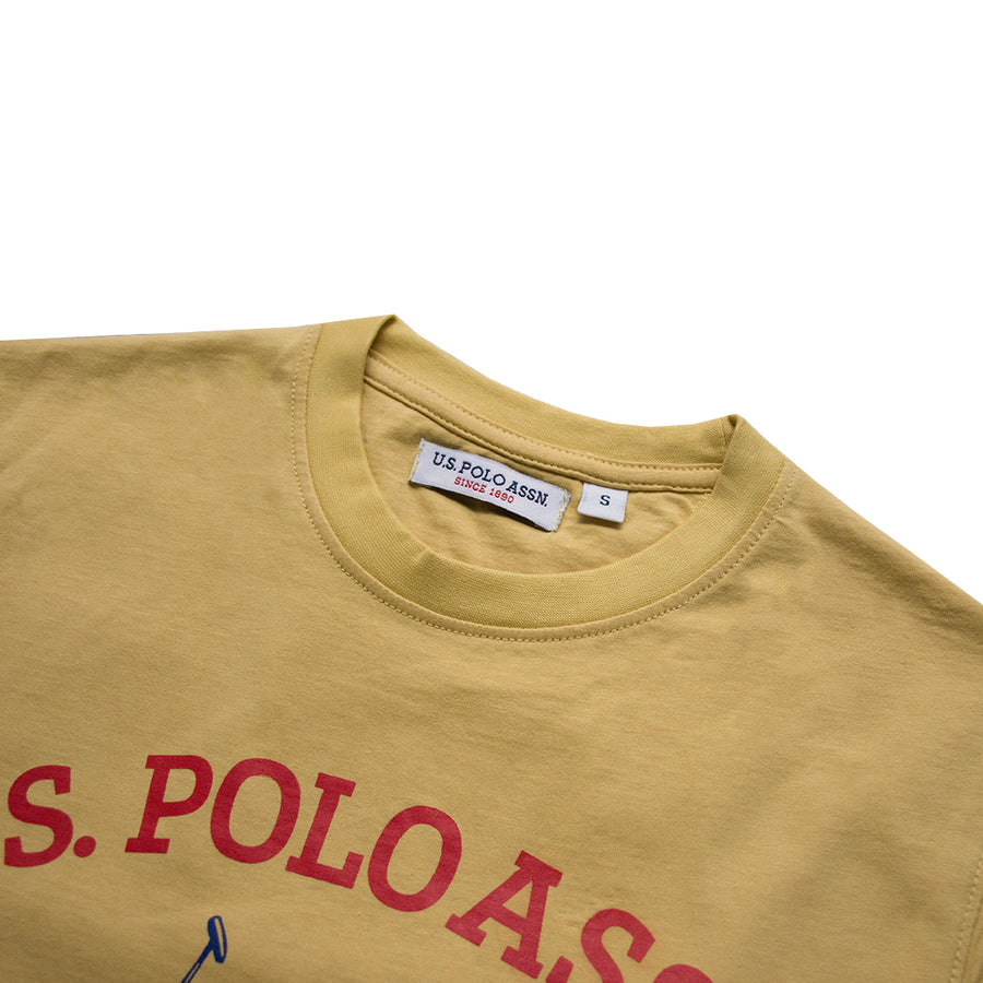 Crew Neck Yellow T-Shirt