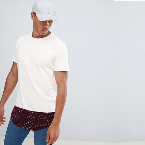 Funky's Maroon Long Bottom T-Shirt