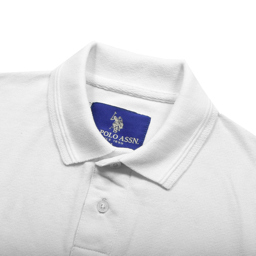 Funky's Ultra Comfort Flex Embroidered Logo White Polo